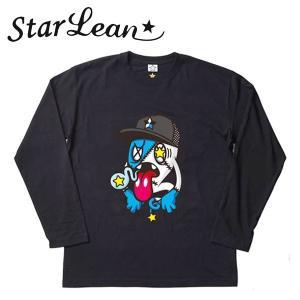 StarLean (スターリアン) キャラクター プリント ロングスリーブTシャツ ブラック ユニセックス SLW01009|gcj-shop