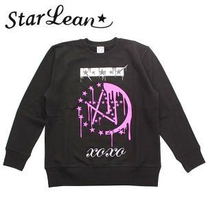 StarLean (スターリアン) メルト プリントスウェット「XOXO」 ブラック/BLACK ユニセックス SLW02014 長袖 トレーナー|gcj-shop