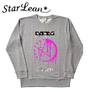 StarLean (スターリアン) メルト プリントスウェット「XOXO」 グレー/GRAY ユニセックス SLW02014 長袖 トレーナー|gcj-shop