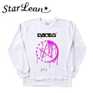 StarLean (スターリアン) メルト プリントスウェット「XOXO」 ホワイト/WHITE ユニセックス SLW02014 長袖 トレーナー|gcj-shop