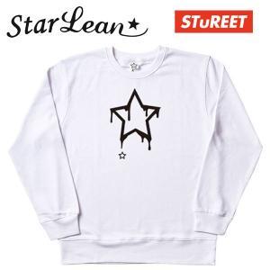 StarLean (スターリアン) STuREET コラボスウェット ホワイト/WHITE ユニセックス SLW0C002 長袖 トレーナー|gcj-shop