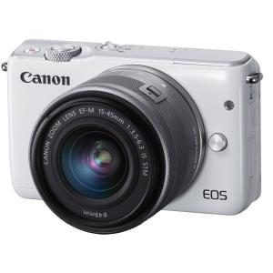 展示品 Canon キヤノン EOS M10 EF-M15-45 IS STM レンズキット [ホワイト]メーカー保証1年付|gcs-net