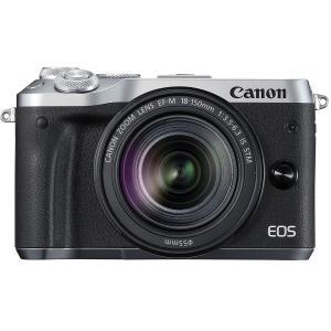 展示品 Canon キヤノン EOS M6 EF-M18-150 IS STM シルバー メーカー保証1年付|gcs-net