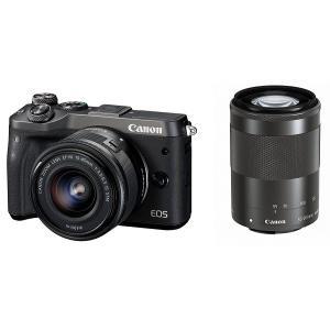 【新品】Canon キヤノン EOS M6 ダブルズームキット ブラック【お取り寄せ品】|gcs-net