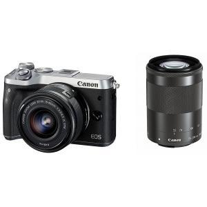 【新品】Canon キヤノン EOS M6 ダブルズームキット シルバー【お取り寄せ品】|gcs-net