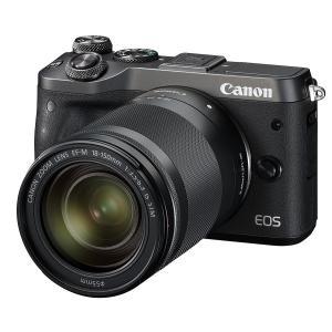 【新品】Canon キヤノン EOS M6 EF-M18-150 IS STM レンズキット ブラック【お取り寄せ品】|gcs-net