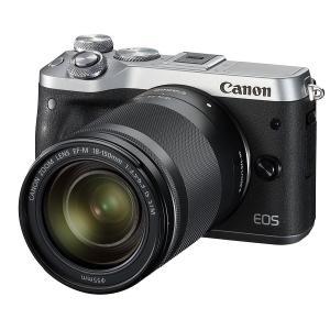 【新品】Canon キヤノン EOS M6 EF-M18-150 IS STM レンズキット シルバー【お取り寄せ品】|gcs-net