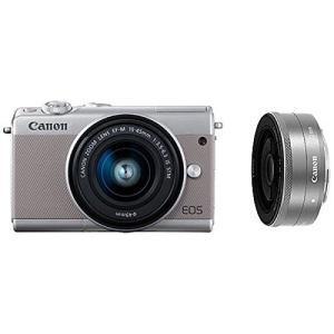 Canon キヤノン EOS M100 ダブルレンズキット [グレー]【お取り寄せ品】|gcs-net