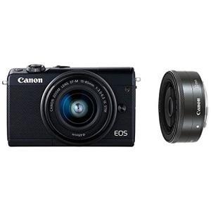 Canon キヤノン EOS M100 ダブルレンズキット [ブラック]【お取り寄せ品】|gcs-net
