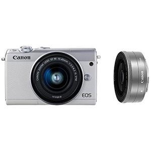 Canon キヤノン EOS M100 ダブルレンズキット [ホワイト]【お取り寄せ品】|gcs-net