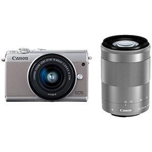 Canon キヤノン EOS M100 ダブルズームキット [グレー]【お取り寄せ品】|gcs-net