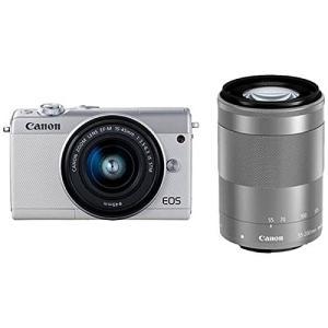 Canon キヤノン EOS M100 ダブルズームキット [ホワイト]【お取り寄せ品】|gcs-net