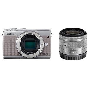 Canon キヤノン EOS M100 EF-M15-45 IS STM レンズキット [グレー]【お取り寄せ品】|gcs-net