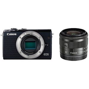 Canon キヤノン EOS M100 EF-M15-45 IS STM レンズキット [ブラック]【お取り寄せ品】|gcs-net