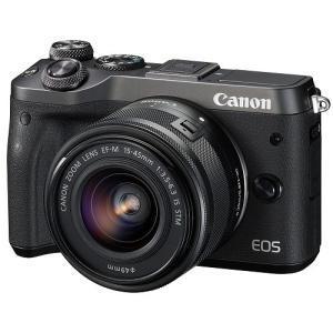 Canon キヤノン EOS M6 EF-M15-45 IS STM レンズキット [ブラック]【お取り寄せ品】|gcs-net