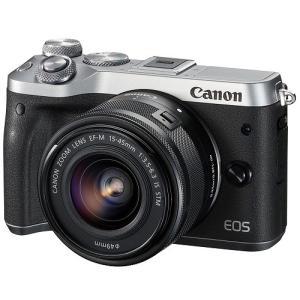 Canon キヤノン EOS M6 EF-M15-45 IS STM レンズキット [シルバー]【お取り寄せ品】|gcs-net