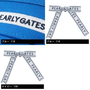 パーリーゲイツ PEARLY GATES リボンモチーフ付きサンバイザー|gdoshop2|04