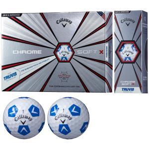 キャロウェイゴルフ クロムソフト CHROME SOFT X TRUVIS ボール【ホワイト/ブルー】