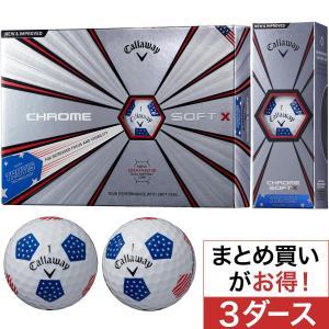 キャロウェイゴルフ CHROM SOFT CHROME SOFT X 18 TRUVIS ボール 3ダースセット
