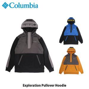 コロンビア Columbia メンズ トップス エクスポレイションプルオーバーフーディー Exploration Pullover Hoodie キャンプ アウトドア AE0256 国内正規品|geak