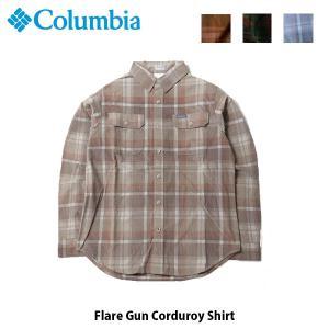 コロンビア Columbia メンズ 長袖シャツ フレアガンコーデュロイシャツ Flare Gun Corduroy Shirt キャンプ アウトドア AE0265 国内正規品|geak