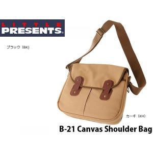 リトルプレゼンツ LITTLE PRESENTS ショルダーバッグ 帆布ショルダー Canvas Shoulder Bag おしゃれ B-21 B21|geak