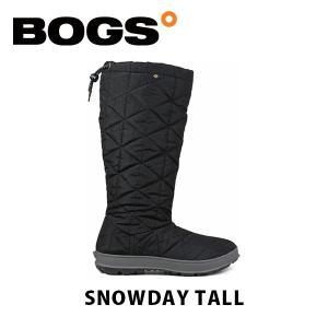 ボグス BOGS レディース ブーツ スノーブーツ スノーデイ トール キルティング ブラック 黒 SNOWDA TALL BOG003 geak