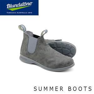 ブランドストーン レディース サイドゴア ブーツ キャンバス 1368 チャッカスタイル ワーク ショート チャコールグレー BS1368004 Blundstone BS136800422|geak