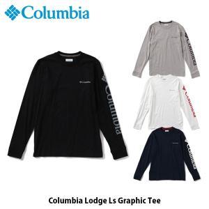 コロンビア Columbia メンズ Tシャツ コロンビアロッジLSグラフィックTシャツ 長袖 アウトドア キャンプ フェス カジュアル EE0076 国内正規品|geak