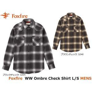 フォックスファイヤー Foxfire メンズ シャツ WWオンブレチェックシャツL/S WW Ombre Check Shirt L/S 5112735 FOX5112735|geak