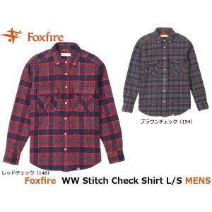 フォックスファイヤー Foxfire メンズ シャツ WWステッチチェックシャツL/S WW Stitch Check Shirt L/S 5112736 FOX5112736|geak