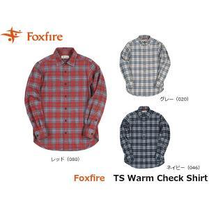 フォックスファイヤー Foxfire メンズ TSウォームチェックシャツ 長袖シャツ トレッキング 登山 山登り キャンプ FOX5112839 国内正規品|geak