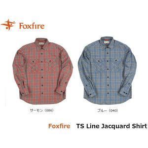 フォックスファイヤー Foxfire メンズ TSラインジャカードシャツ 長袖シャツ トレッキング 登山 山登り キャンプ FOX5112841 国内正規品|geak