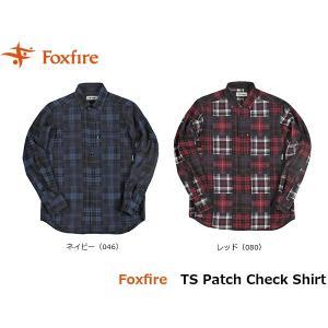フォックスファイヤー Foxfire メンズ TSパッチチェックシャツ 長袖シャツ トレッキング 登山 山登り キャンプ FOX5112852 国内正規品|geak