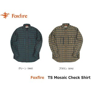 フォックスファイヤー Foxfire メンズ TSモザイクチェックシャツ 長袖シャツ トレッキング 登山 山登り キャンプ FOX5112856 国内正規品|geak