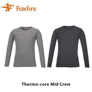 Foxfire フォックスファイヤー 長袖 トップス メンズ Thermo-core Mid Crew サーモコアミッドクルー 5115669 FOX5115669|geak
