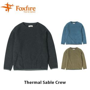 フォックスファイヤー Foxfire メンズ サーマルセーブルクルー 長袖 フリース セーター ハイキング 登山 アウトドア FOX5115989|geak