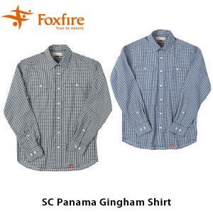 フォックスファイヤー Foxfire メンズ SCパナマギンガムシャツ SC Panama Gingham Shirt 5212847 FOX5212847|geak