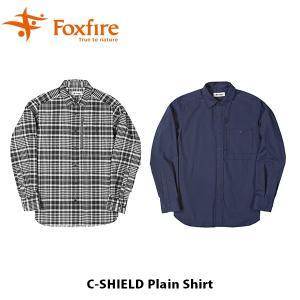 フォックスファイヤー Foxfire メンズ Cシールドプレーンシャツ シャツ 長袖 ハイキング 登山 キャンプ コカゲ シールド FOX5212958 国内正規品|geak