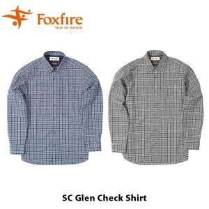 フォックスファイヤー Foxfire メンズ SCグレンチェックシャツ シャツ 長袖 ハイキング 登山 ファッション スコーロン 防虫 虫除け FOX5212964 国内正規品|geak
