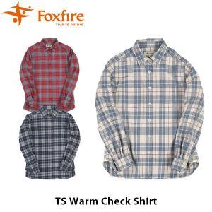 フォックスファイヤー Foxfire レディース TSウォームチェックシャツ 長袖シャツ トレッキング 登山 山登り キャンプ フェス 山ガール FOX8112821 国内正規品|geak