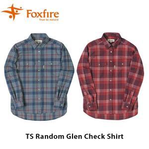 フォックスファイヤー Foxfire レディース TSランダムグレンチェックシャツ 長袖 シャツ 吸汗速乾 ハイキング 登山 アウトドア FOX8112936|geak