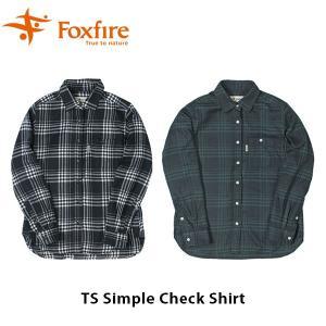 フォックスファイヤー Foxfire レディース TSシンプルチェックシャツ 長袖 シャツ 吸汗速乾 ハイキング 登山 アウトドア FOX8112939|geak