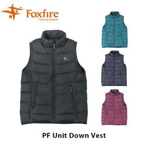 フォックスファイヤー Foxfire レディース PFユニットダウンベスト アウター ダウン ベスト 軽量 ハイキング アウトドア FOX8113924|geak