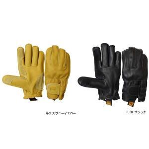 グリップスワニー グローブ G-3 ショートモデル ワークグローブ 本革 レザー 手袋 バイク レディース メンズ イエロー ブラック 黒 G-3B GRIP SWANY G3|geak