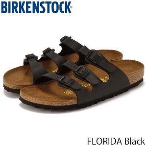 ビルケンシュトック サンダル レディース フロリダ FLORIDA 歩きやすい 革 旅行 おしゃれ ビルコフロー ブラック 幅狭 女性用 BIRKENSTOCK GC054793 国内正規品|geak