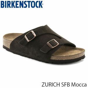 ビルケンシュトック メンズ サンダル チューリッヒ ソフトフットベット ZURICH SFB トングサンダル 幅広 モカ BIRKENSTOCK GC1009530 国内正規品|geak