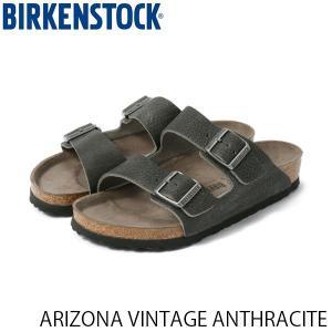 ビルケンシュトック メンズ サンダル アリゾナ ARIZONA VINTAGE ANTHRACITE スムースレザー 幅狭 BIRKENSTOCK GC1013046 国内正規品 geak