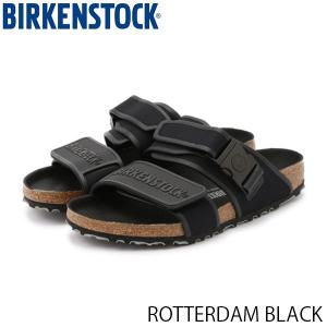 ビルケンシュトック メンズ サンダル ロッテンダム ROTTERDAM BLACK マイクロファイバー 幅広 BIRKENSTOCK GC1013680 国内正規品|geak