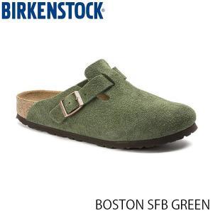 ビルケンシュトック メンズ レディース サンダル ボストン BOSTON SFB GREEN スエード 幅狭 BIRKENSTOCK GC1014209 国内正規品 geak